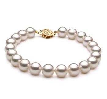 Blanc 8-9mm AA-qualité Akoya du Japon -Bracelet de perles