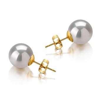 Blanc 10-11mm AAA-qualité des Mers du Sud-Boucles d'oreilles en perles