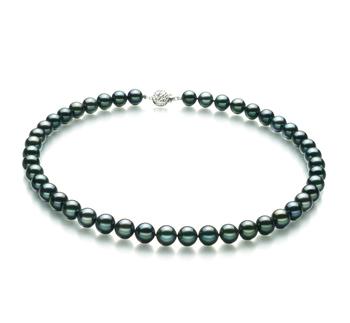 Noir 8.5-9mm AA-qualité Akoya du Japon 925/1000 Argent-Collier de perles