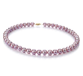 Lavande 8.5-9mm AA-qualité perles d'eau douce -Collier de perles