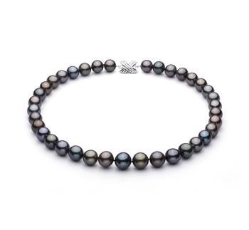 Multicolore 11.09-13.54mm AA+-qualité de Tahiti 585/1000 Or Blanc-Collier de perles