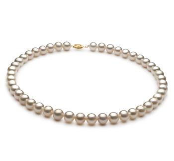 Blanc 8.5-9mm AA-qualité perles d'eau douce Rempli D'or-Collier de perles