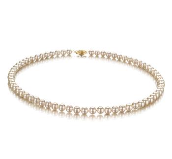 Blanc 5.5-6mm AAA-qualité perles d'eau douce -Collier de perles