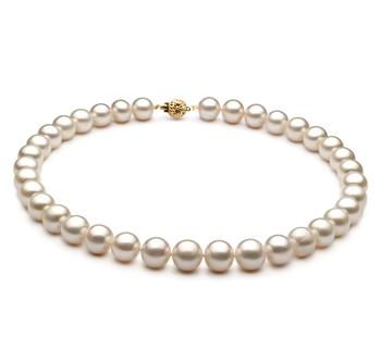 Blanc 10-11mm AA-qualité perles d'eau douce -Collier de perles