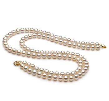 Blanc 7.5-8.5mm AA-qualité perles d'eau douce -Collier de perles