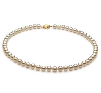 Blanc 6-7mm AA-qualité Akoya du Japon -Collier de perles