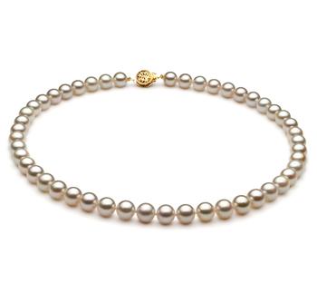 Blanc 7.5-8mm AA-qualité Akoya du Japon -Collier de perles
