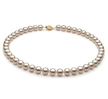 Blanc 8.5-9mm AA-qualité Akoya du Japon -Collier de perles