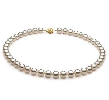 Blanc 8.5-9mm AAA-qualité Akoya du Japon -Collier de perles