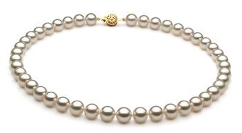 Blanc 8-8.5mm AAA-qualité Akoya du Japon -Collier de perles
