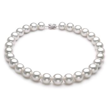 Blanc 14-17mm AAA-qualité des Mers du Sud 585/1000 Or Blanc-Collier de perles