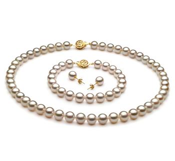 Blanc 7.5-8mm AA-qualité Akoya du Japon -un set en perles