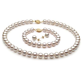 Blanc 8-9mm AA-qualité Akoya du Japon -un set en perles