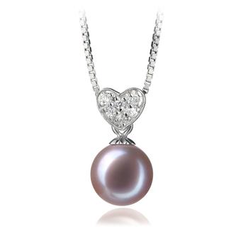 Randy Lavande 7-8mm AAAA-qualité perles d'eau douce 925/1000 Argent-pendentif en perles