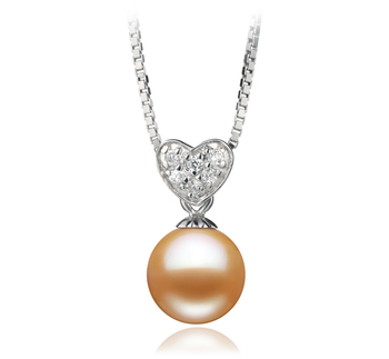 Randy Rose 7-8mm AAAA-qualité perles d'eau douce 925/1000 Argent-pendentif en perles