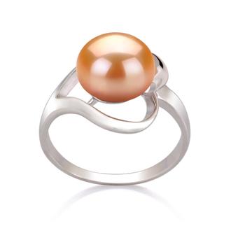 Sadie Rose 9-10mm AA-qualité perles d'eau douce 925/1000 Argent-Bague perles