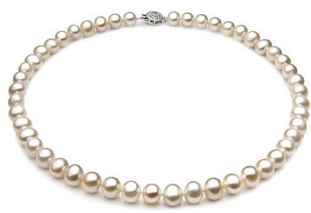 Unique Blanc 7-8mm A-qualité perles d'eau douce 925/1000 Argent-Collier de perles