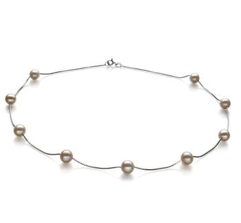 Station Blanc 7-8mm AA-qualité perles d'eau douce 925/1000 Argent-Collier de perles