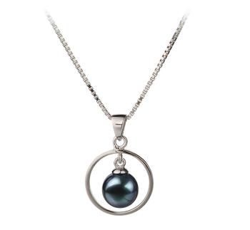 Trinité Noir 6-7mm AA-qualité Akoya du Japon 925/1000 Argent-pendentif en perles