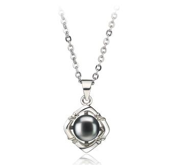 Vera Noir 6-7mm AA-qualité perles d'eau douce Blanc Bronze-pendentif en perles