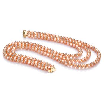 Verena Rose 6-7mm AA-qualité perles d'eau douce -Collier de perles