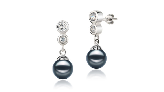 View Boucles d'oreilles Akoya noires du Japon collection