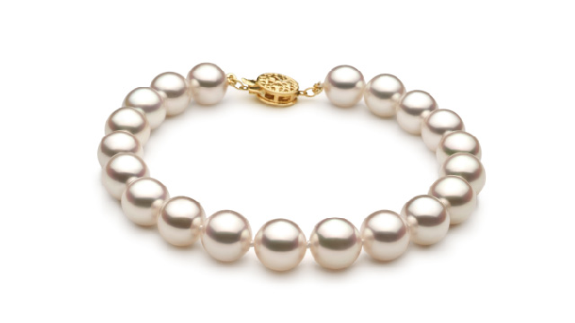 View Bracelet Akoya japonais blanc collection