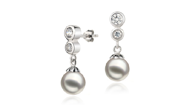View Boucles d'oreilles Akoya japonaises blanches collection